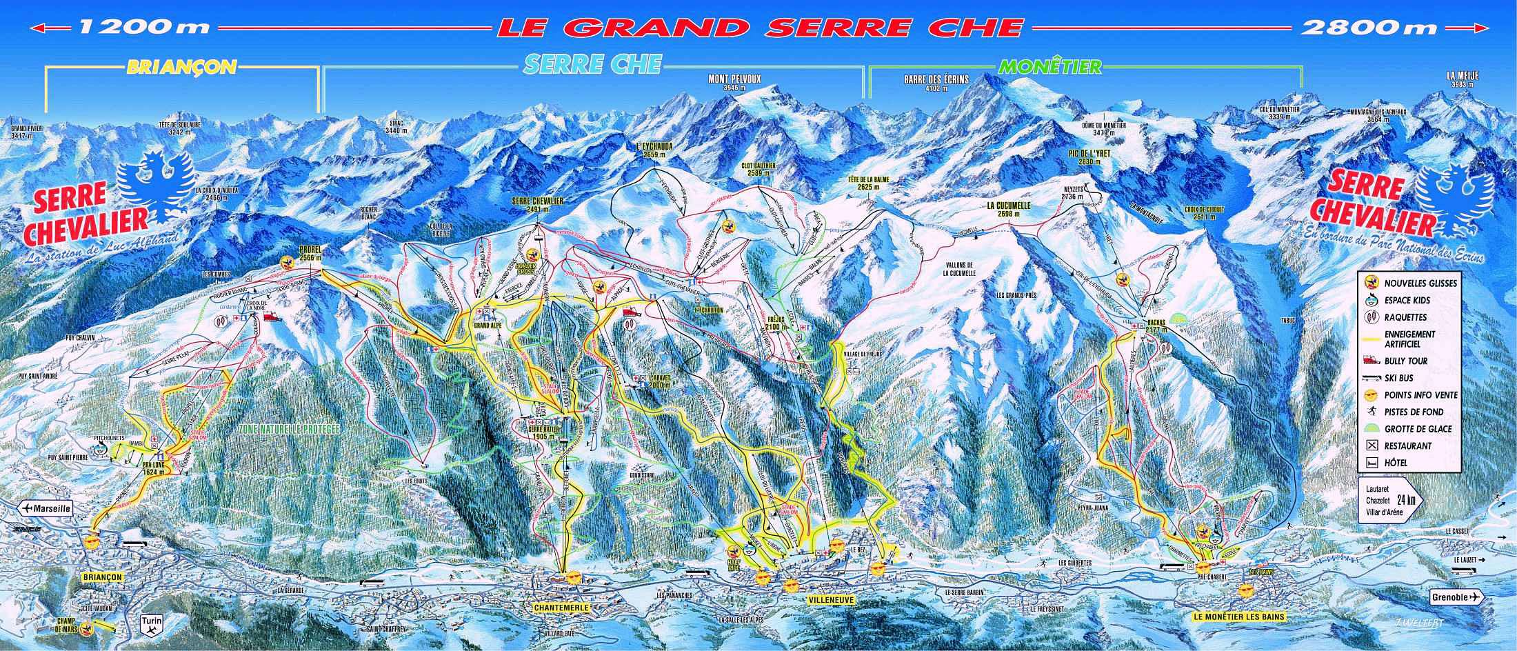 Serre Chevalier Piste Map Piste maps   SerreChevalier